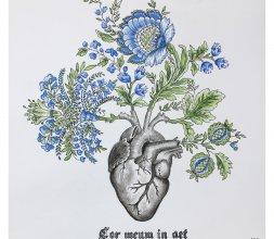 """Peinture """"Cor Meum in Aet"""""""