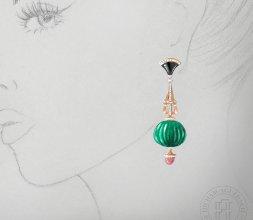 earrings of art deco inspiration