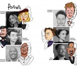 Portrait de différentes célébrités