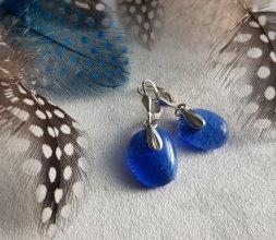 Collection Asymétrie - Boucles Bleu lavande