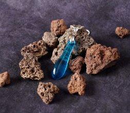 Collection Minérale - collier bleu turquoise