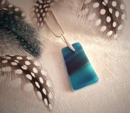Collection marbrée - collier bleu