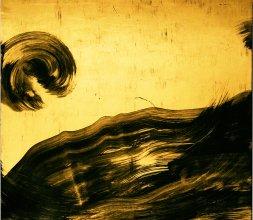 Tableaux noir et or.