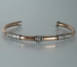 bracelet en bronze et argent