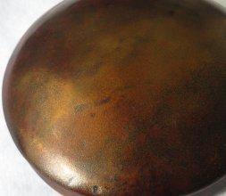 Laque Urushi + or sur céramique de Laetitia PINEDA