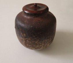 Urushi sur couvercle de Cha-ire - Cérémonie du thé