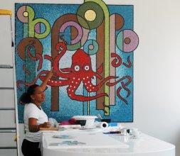 Décor mural haut en couleur