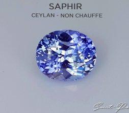 Saphir Bleuet Sri_Lanka Non chauffé
