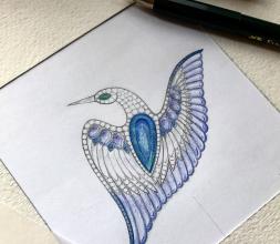 oiseau de broche