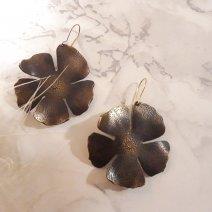 Boucles d'oreilles Hibiscus - Patiné