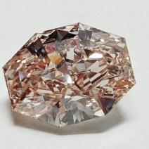 2.02ct Octagonal pink-brown