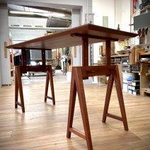 Table d'architecte à tréteaux, 3 hauteurs possibles