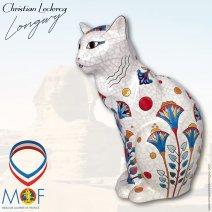 CHAT G.M. EGYPTE - ÉMAUX D'ART DE LONGWY