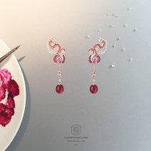 BO et broche goute de rubis