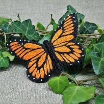 Papillon Monarque bijou de cheveux