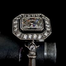 Solitaire en platine et diamant