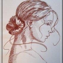 visage femme de profil