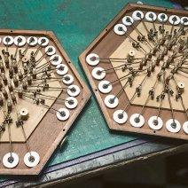 Restauration clavier de concertina anglais.