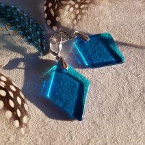Collection Géorine - Boucles bleu turquoise