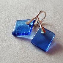Collection Géorine - boucles bleu lavande