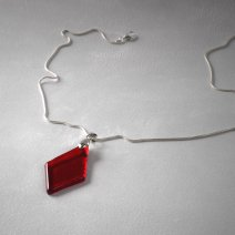 Collection Géorine - collier rouge