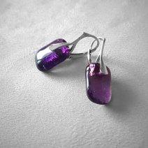 Collection Minérale - Boucles violettes