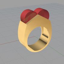 Exercice de réalisation bague 3D sur rhino