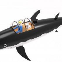 Modélisation 3D du requin de l'univers Tintin