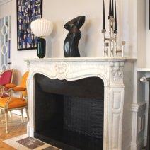 Habillage de foyer de cheminée